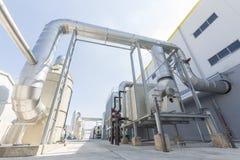 Afval-aan-energie faciliteit royalty-vrije stock afbeeldingen