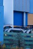 Afval-aan-energie installatiepijpen Oberhausen Duitsland stock afbeelding