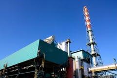Afval aan energieinstallatie Stock Foto's