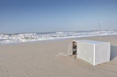 Afval bij het strand Stock Foto