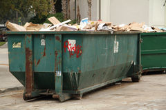 Afval Dumpster stock afbeeldingen
