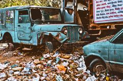 Afval in India Royalty-vrije Stock Afbeelding