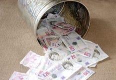 Afval van geld Stock Fotografie