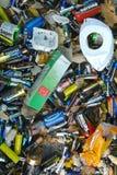 Afvalbatterijen Stock Foto