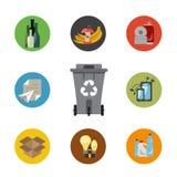 Afvalbeheer vlak concept Royalty-vrije Stock Afbeeldingen
