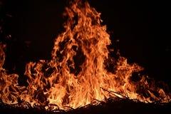 afvalbrand met de foto van de vlamvoorraad Royalty-vrije Stock Afbeeldingen