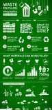 Afvalinfographics - ecologie/energie/recyclingsconcept stock illustratie