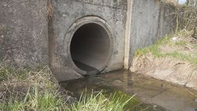 Afvalwaterkanaal stock footage