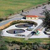 Afvalwaterzuiveringsinstallatie Stock Foto
