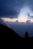 In afwachting van uitbarsting. Stock Foto