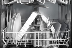 Afwasmachine Stock Afbeelding