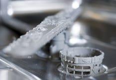 Afwasmachine binnen Royalty-vrije Stock Foto