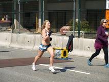 Afwerking van de marathon van Vancouver stock foto