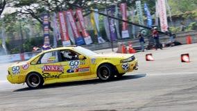 Afwijkingsraceauto Stock Foto's