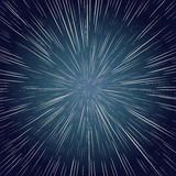 Afwijkingssterren Ray Galaxy Background Stock Foto