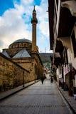 Afyon街道的著名Mevlevi清真寺  免版税库存图片