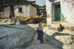 Afyon Phyrgian谷每村庄生活 免版税图库摄影