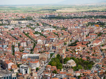 Afyon, Turkey - May 12, 2017: Colorful ottoman houses in Afyon,. Colorful ottoman houses in Afyon, Turkey stock image