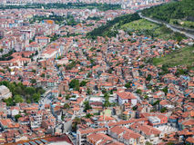Afyon, Turkije - Mei 12, 2017: Kleurrijke ottomanehuizen in Afyon, Stock Foto's