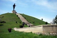 AFYONKARAHISAR TURKIET - CIRCA APRIL 2015, monument av striden av Dumlupinar Arkivbilder