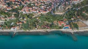 Afytos wioska Kassandra Halkidiki, Grecja zdjęcie royalty free