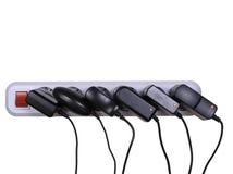 Afzet en adapters ac-gelijkstroom Stock Foto's