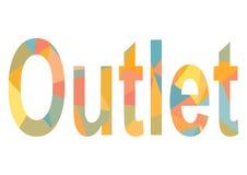 Afzet het van letters voorzien van kleurrijke driehoeken Royalty-vrije Stock Afbeelding
