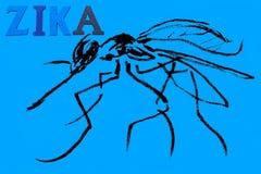 Afzonderlijk woord - zika Royalty-vrije Stock Foto's