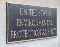 A Agência de Proteção Ambiental sedia o sinal da construção fotografia de stock