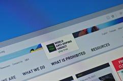 Agência do anti-doping do mundo imagem de stock