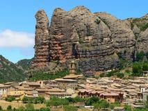 Agüero, Huesca (Spanje) Stock Afbeeldingen