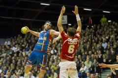 AG Copenhaga - handball de Alborgue Fotos de Stock Royalty Free