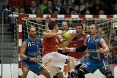 AG Copenhagen - Aalborg Handball Royalty Free Stock Photos