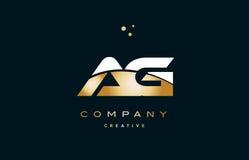 Ag a g white yellow gold golden luxury alphabet letter logo ico. Ag a g white yellow gold golden metal metallic luxury alphabet company letter logo design icon stock illustration
