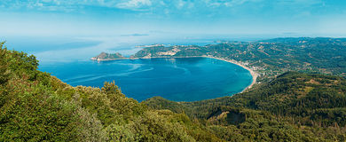 Ag Georgios Pagon, Afionas, Corfu wyspa, Grecja Zdjęcie Stock