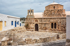Ag. Ioannis Chrysostomos church, Kimolos island Royalty Free Stock Images