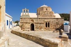 Ag. Ioannis kościół Chrysostomos, Kimolos wyspa Obraz Royalty Free