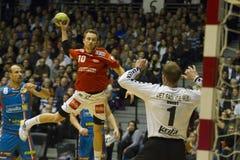 AG Kopenhagen - Aalborg-Handball Stockbilder