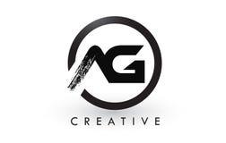 AG muśnięcia listu loga projekt Kreatywnie Oczyszczony list ikony logo ilustracji