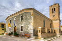 Ag. Paraskevi kościół, Galaxidi, Grecja Obraz Royalty Free