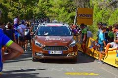 AG2R αυτοκίνητο ομάδας Λα Mondiale στη φυλή 2017 κύκλων Λα Vuelta España στοκ εικόνες