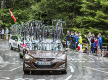 AG2R La Mondiale队-环法自行车赛汽车2014年 库存图片