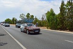 AG2R losu angeles Mondiale samochód I jeźdza los angeles Vuelta España Obrazy Royalty Free