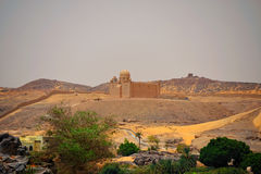 Aga Khan Mausoleum. Mausoleum of the late Ismaelite Aga Khan near Assuan, Egypt stock image