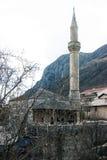 Aga meczet w Starym mieście Mostar Zdjęcia Royalty Free