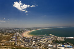Agadir. Morocco. Agadir. Aerial view of the city seen from the old kasbah hill Royalty Free Stock Photography