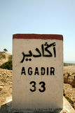 Agadir 33km. Travel in Morocco, going to Agadir Royalty Free Stock Images