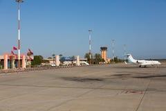 Agadir Al Massira lotnisko, Marocco, Główny Śmiertelnie budynek i fartuch, - aga, GMAD fotografia royalty free