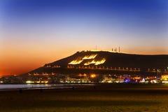 Agadir bis zum Nacht Stockfotos