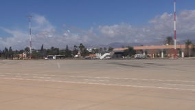 Agadir city Morocco Africa airport and runway stock footage